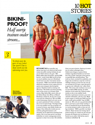 Grazia Magazine over Bodytec