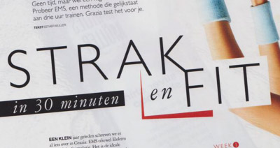 Artikel over Bodytec in Grazia Magazine